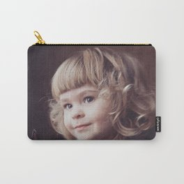Little girl with cat Carry-All Pouch