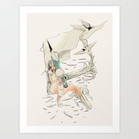 imagine Art Prints featuring Imagine by Huebucket