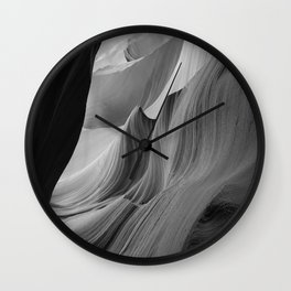 Canyon (Black and White) Wall Clock