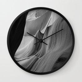 Canyon (Black and White) Wall Clock