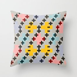 Abstract Cross Pattern Throw Pillow