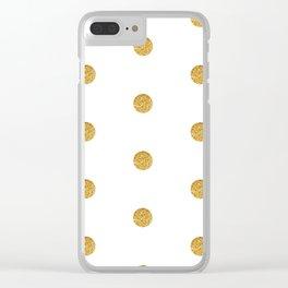 Golden dot 2 dot Clear iPhone Case
