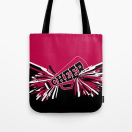 Hot Pink Cheerleader Design Tote Bag