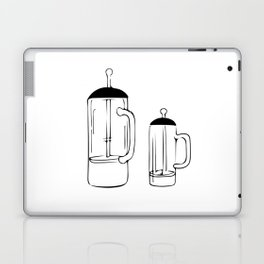 Coffee Tools: French press Laptop & iPad Skin