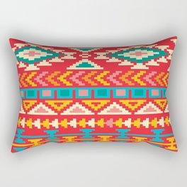 Red Native Aztec Rectangular Pillow