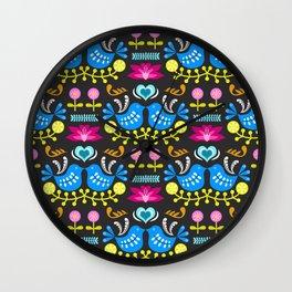Folk Art Garden Wall Clock