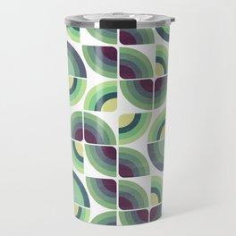 Green Fields Pattern Travel Mug
