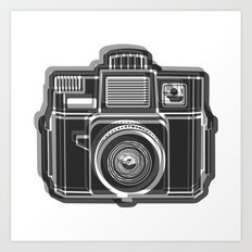 I Still Shoot Film Holga Logo - Black and White Art Print