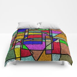 Abstract Stained Glass Comforters