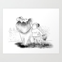 Hank Visits the Garden Art Print