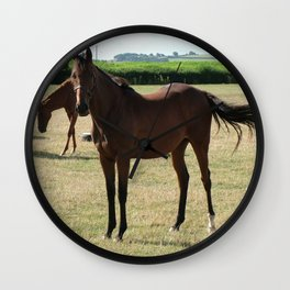 Stringston Horses Wall Clock