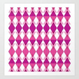 Pink Triangle Pattern Art Print
