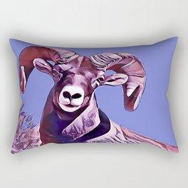 The Mountain Ram Rectangular Pillow