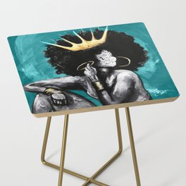 Naturally Queen VI  TEAL Side Table