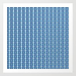 Sky Blue Winter Clouds Vertical Patten Art Print