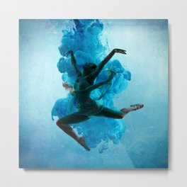 Ballet Dancer in Deep Sea. Metal Print