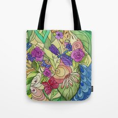 Stained Glass Garden Too Tote Bag