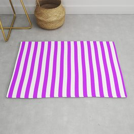 Purple and White Stripes Rug