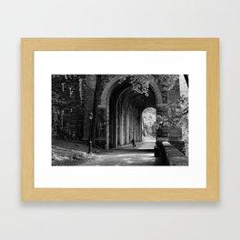 Ft. Tryon Tunnel Framed Art Print