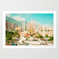 Caracas Caos Art Print