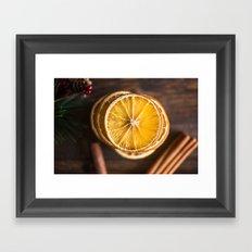 Orange and Spice Framed Art Print