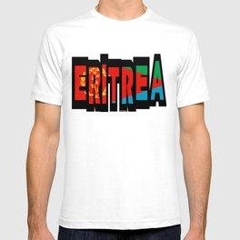 Eritrea Font with Eritrean Flag T-shirt