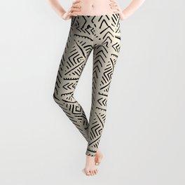 Line Mud Cloth // Bone Leggings