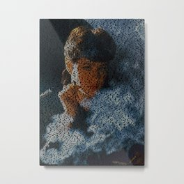 Text Portrait of Rachael with full script of the movie Blade Runner Metal Print