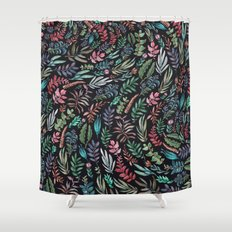 water color garden at nigth Shower Curtain