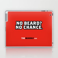NO BEARD? NO CHANCE. Laptop & iPad Skin