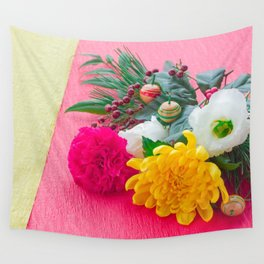 The Decoration Flower Of New Year Wall Tapestry