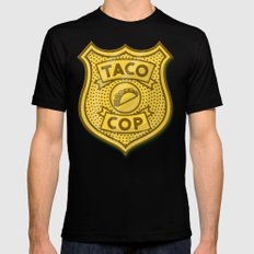 Taco Cop LARGE Black Mens Fitted Tee