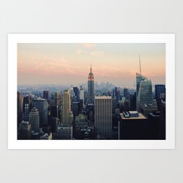 New York at Dusk Art Print