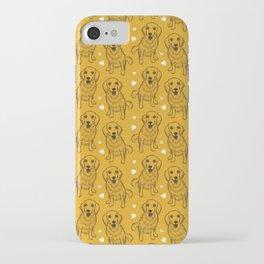 Golden Retriever Line Art iPhone Case