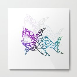 Shapes in sharks Metal Print
