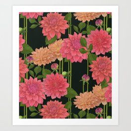 idyllic // dahlia Art Print