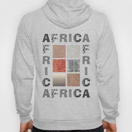 Africa - background with text and texture wild animal Hoody