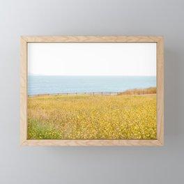 Nature Photography Wild Yellow Flowers II Framed Mini Art Print