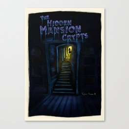 The Hidden Crypts Of The Mansion by Topher Adam 2018 Canvas Print