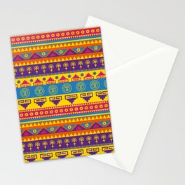 vivid mexican pattern Stationery Cards
