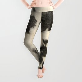 Black & White Cow Hide Leggings