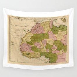 Map of West Africa (c 1718) Carte de la Barbarie, de la Nigritie, et de la Guinée Wall Tapestry