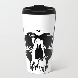 Black & White Simple Skull Travel Mug