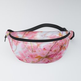 Cherry pink blossoms watercolor painting #12 Fanny Pack