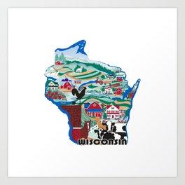 Wisconsin Country Sampler Art Print