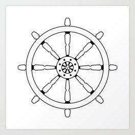 Dharma Wheel Art Print
