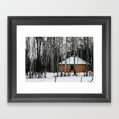 Yurt in the Birch Framed Art Print