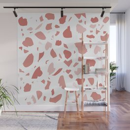 Terrazzo in Shades of Coral Wall Mural