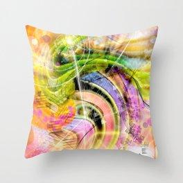 QUARK EXPRESS ABSTRACT Throw Pillow