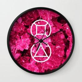 Garnet Candy Gem Wall Clock